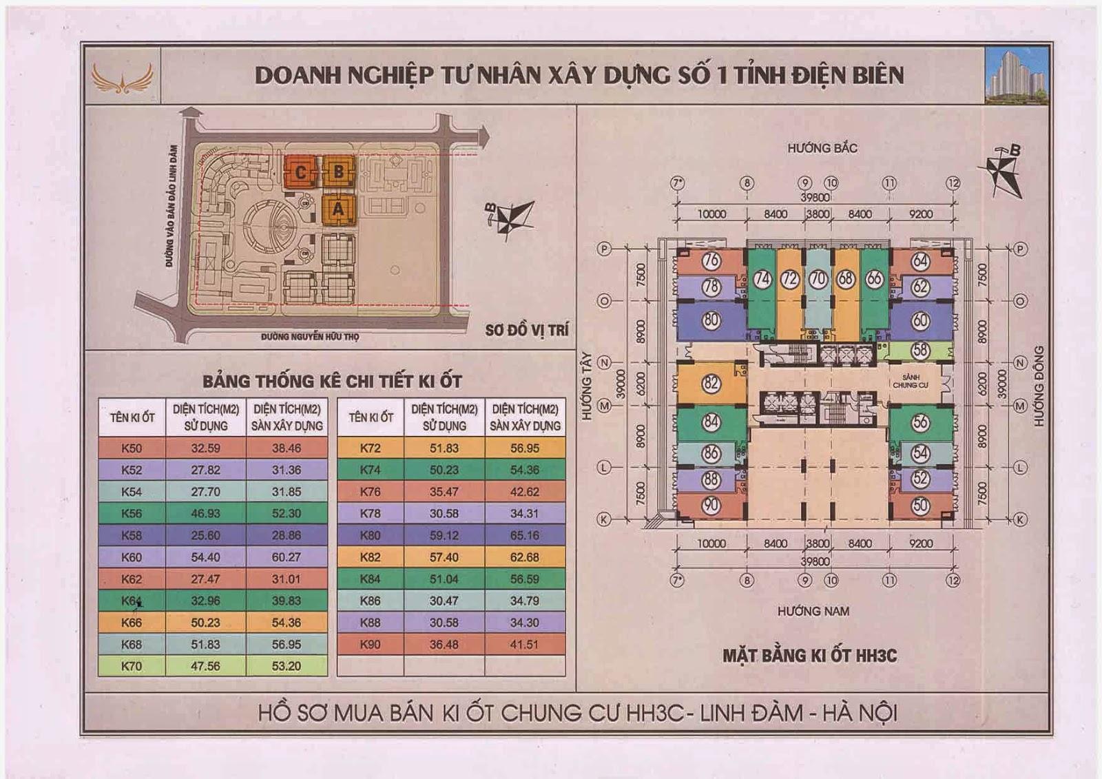 Kiot chung cư HH3C Linh Đàm - 0917078221