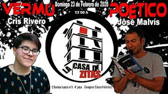 VERMÚ POÉTICO Domingo 23 de Febrero 2020 a las 13´00 h
