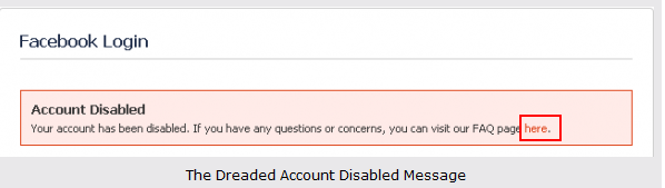 facebook account disabled how to get it back