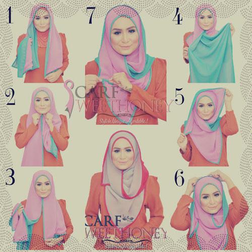 cara memakai hijab gaul