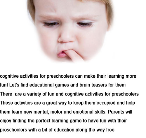 cognitive activities for preschoolers