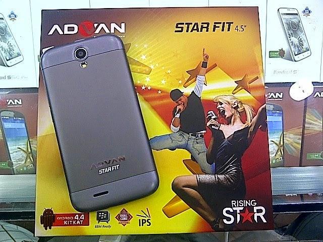 Advan Star Fit S45A, Spesifikasi HP Android KitKat Terbaru Harga Di Bawah 1 Juta