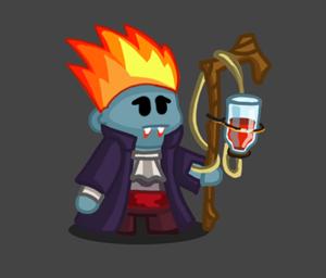 Le vampire, une classe amusant de Dungelot, un roguelike Android