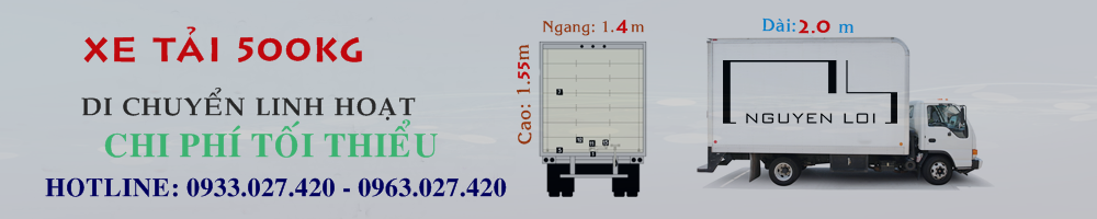 Cho thuê xe tải 500kg chở hàng