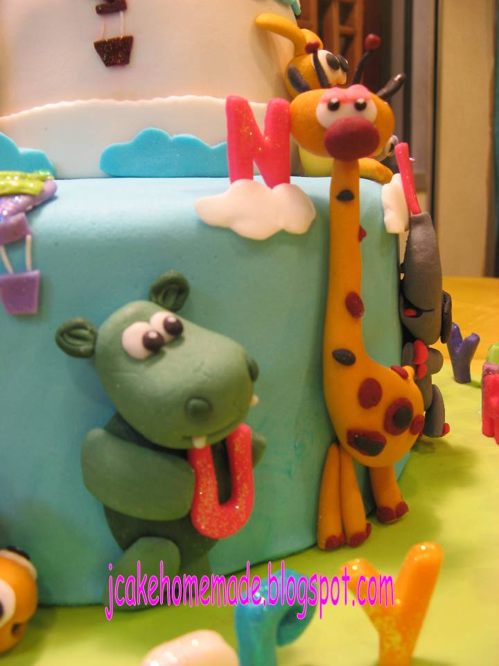 Jcakehomemade baby tv theme birthday cake for Baby tv birthday decoration