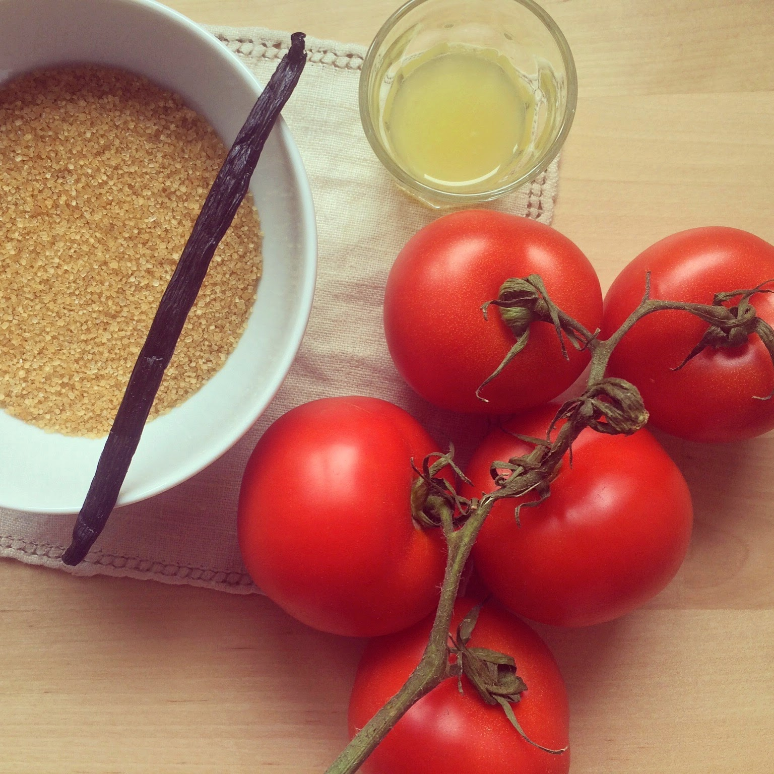 confiture tomates vanille