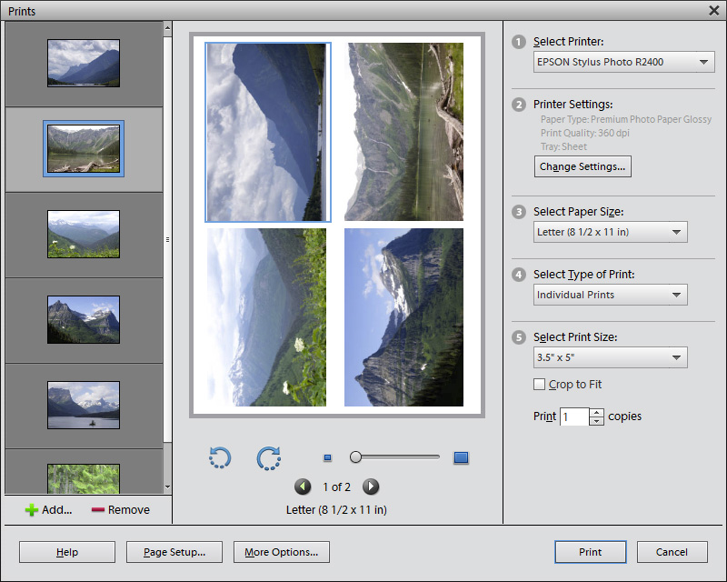 Print Multiple Photos on a 4x6 in Photoshop 7.0 Tutorials