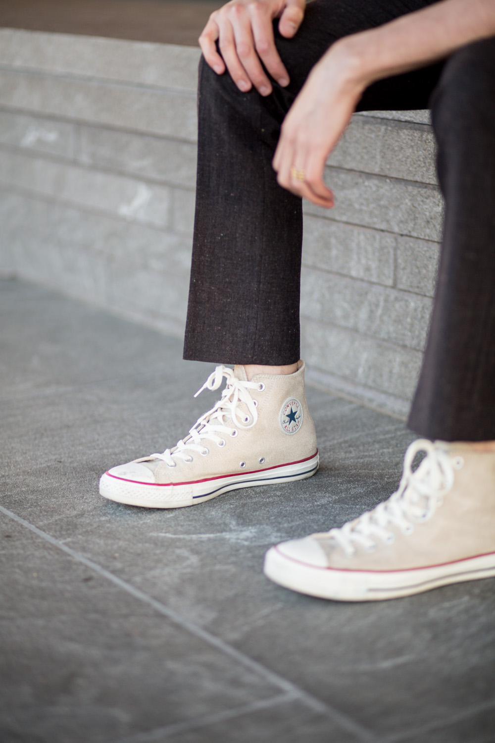 Leather Converse Hightops