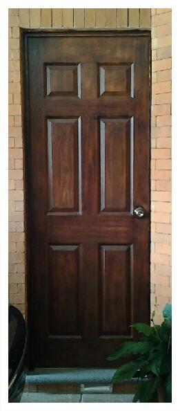 Puerta blanca a imitaci n madera - Vinilos imitacion madera para puertas ...