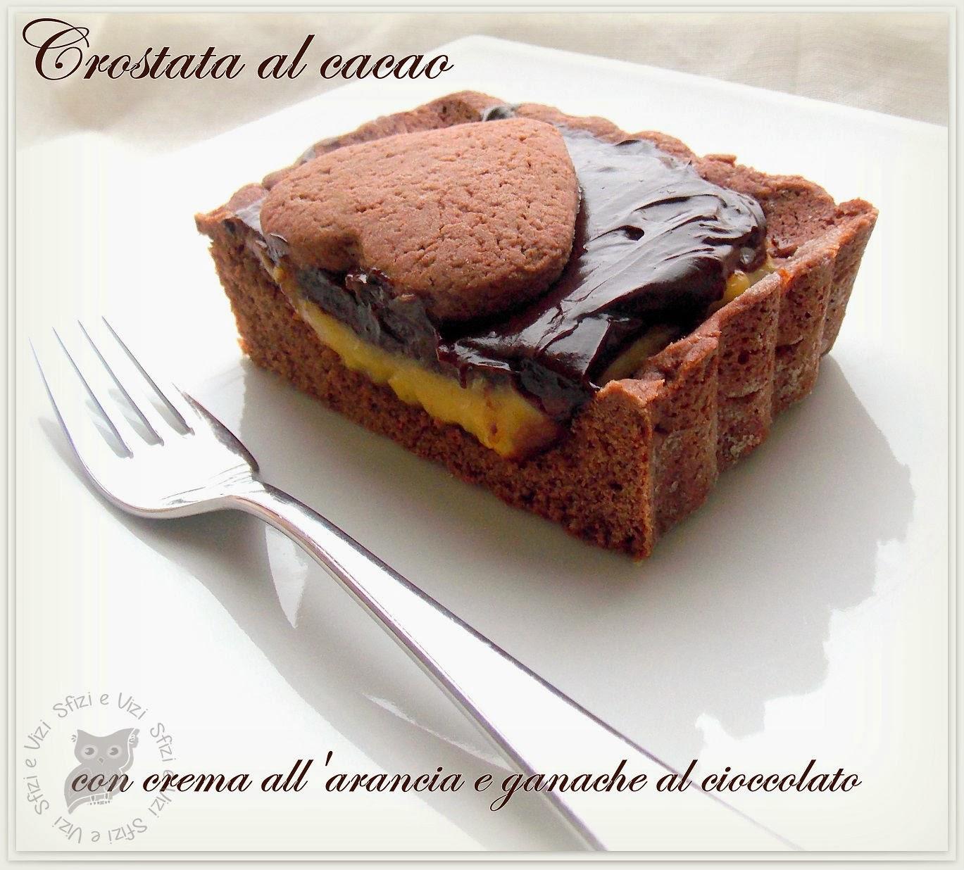 crostata al cacao di ernst knam con crema alle arance e ganache al cioccolato - ricetta senza latticini -