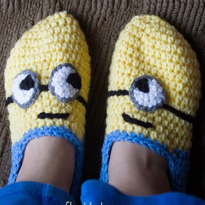 Crochet Minion Slippers