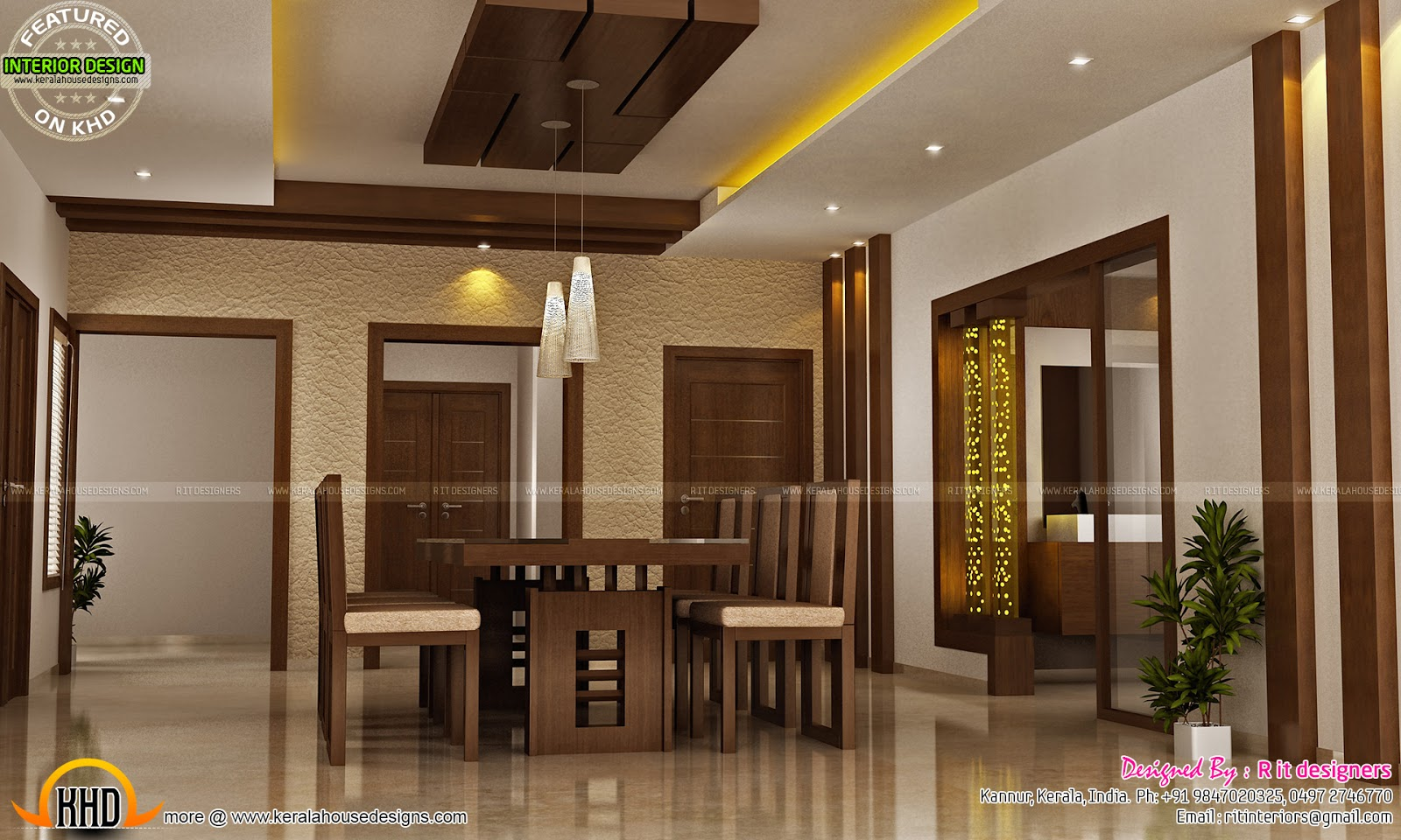 Modular kitchen bedroom teen bedroom and dining interior for House interior design kerala photos