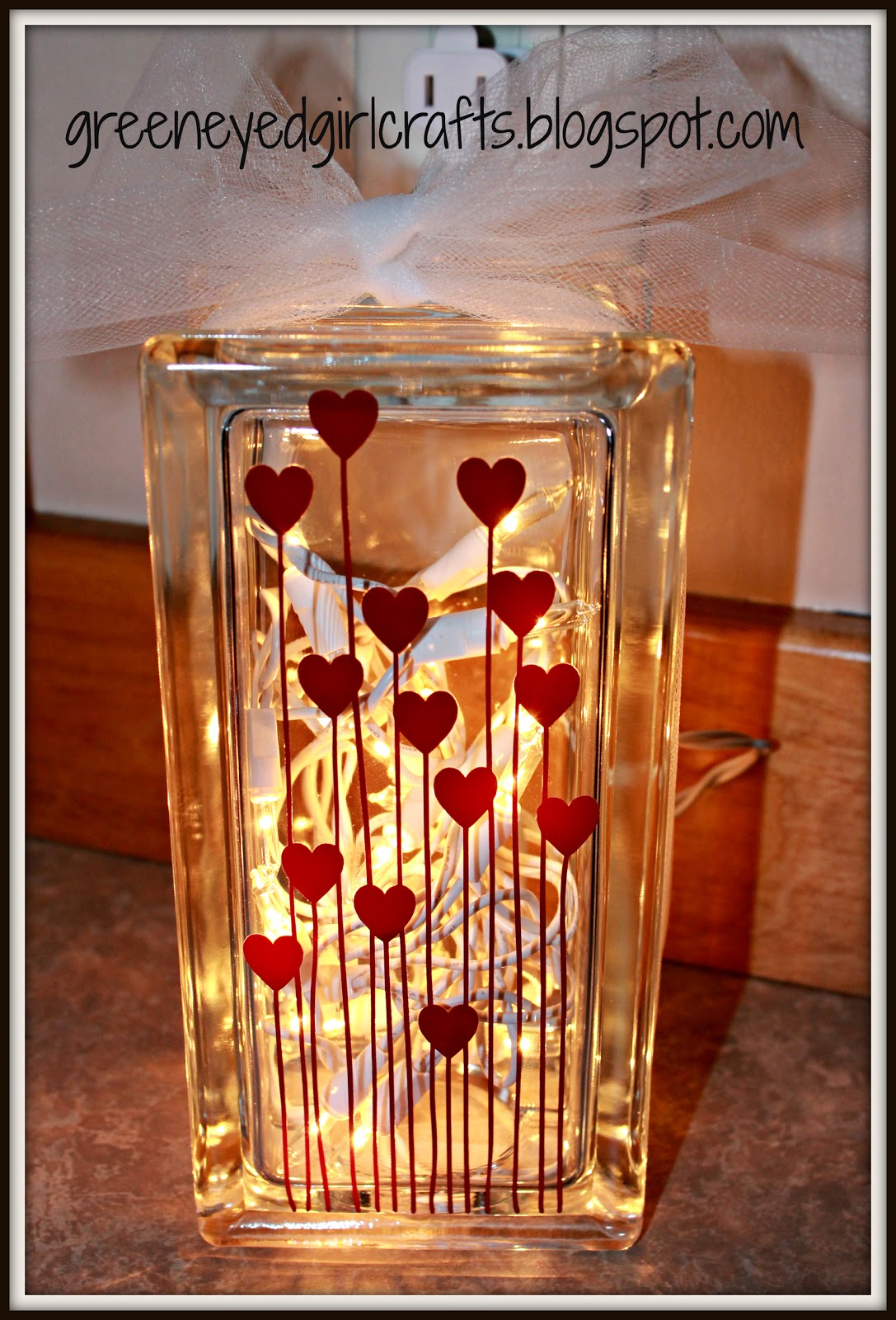 Glass Block Spring Craft Ideas
