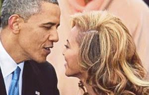 Barack Obama and Beyonce