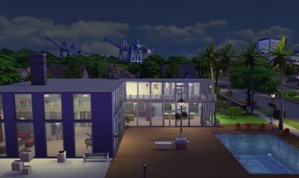Casa moderna donwload casa the sims 4 somos sims for Piscina sims 4