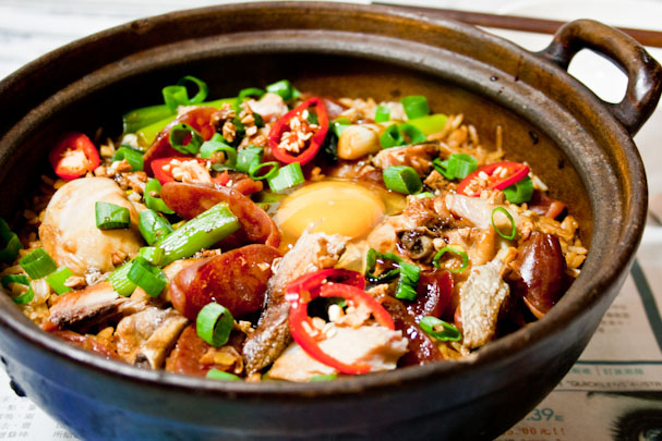 Wa Bao Fan 瓦煲飯 Claypot Rice With Chicken, Chinese Sausage And ...