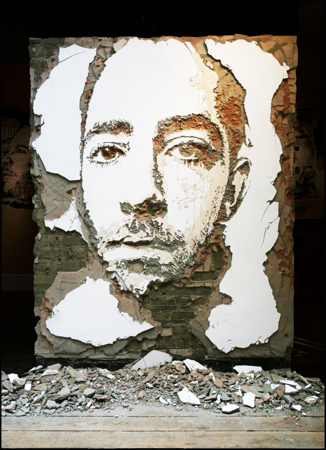 vimural the viral mural home to street artist biographies vhils. Black Bedroom Furniture Sets. Home Design Ideas