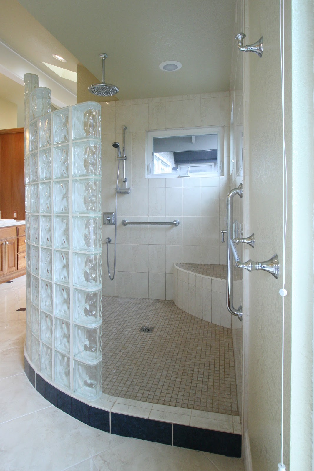 Kitchen And Bath Construction And Remodeling Walk In Shower After Images
