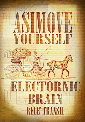 Electronic brain, science fiction illustration