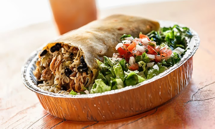 Picture of a cafe rio burrito
