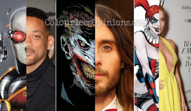 Suicide Squad Cast, Will Smith Deadlock, Jared Leto Joker, Margot Robbie Harley Quinn