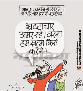 arvind kejriwal cartoon, aam aadmi party cartoon, AAP party cartoon, corruption cartoon, corruption in india, cartoons on politics, indian political cartoon, Delhi election