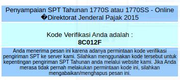 contoh kode verifikasi
