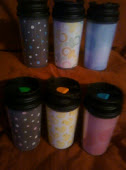Travel Mugs with baby themed inserts