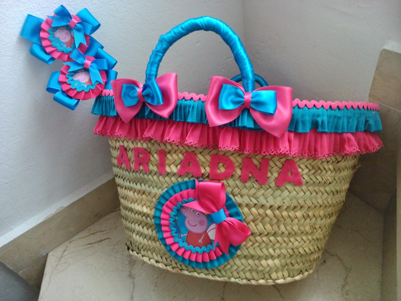 Chitines fieltro y otras manualidades cestas de mimbre - Como adornar una cesta de mimbre ...