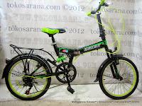 Sepeda Lipat Element 20-69 Suspensi Depan dan Belakang 20 Inci