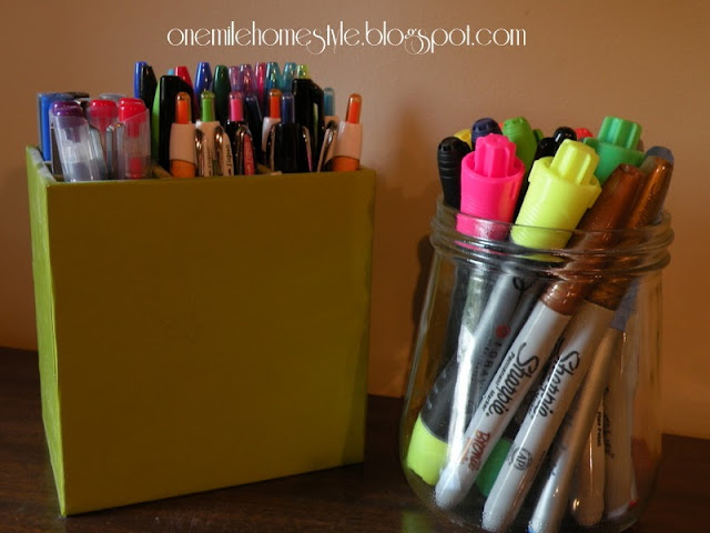 Pen and marker organization