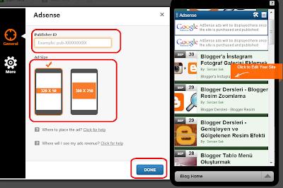 Blogger Mobil Siteye Adsense Eklemek