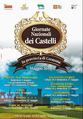 Giornate Nazionali dei Castelli  Provincia di Cremona  Fino al 31 Maggio