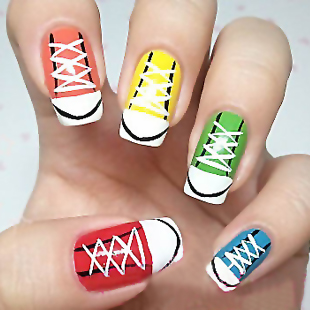 Shoes Nail Art Design