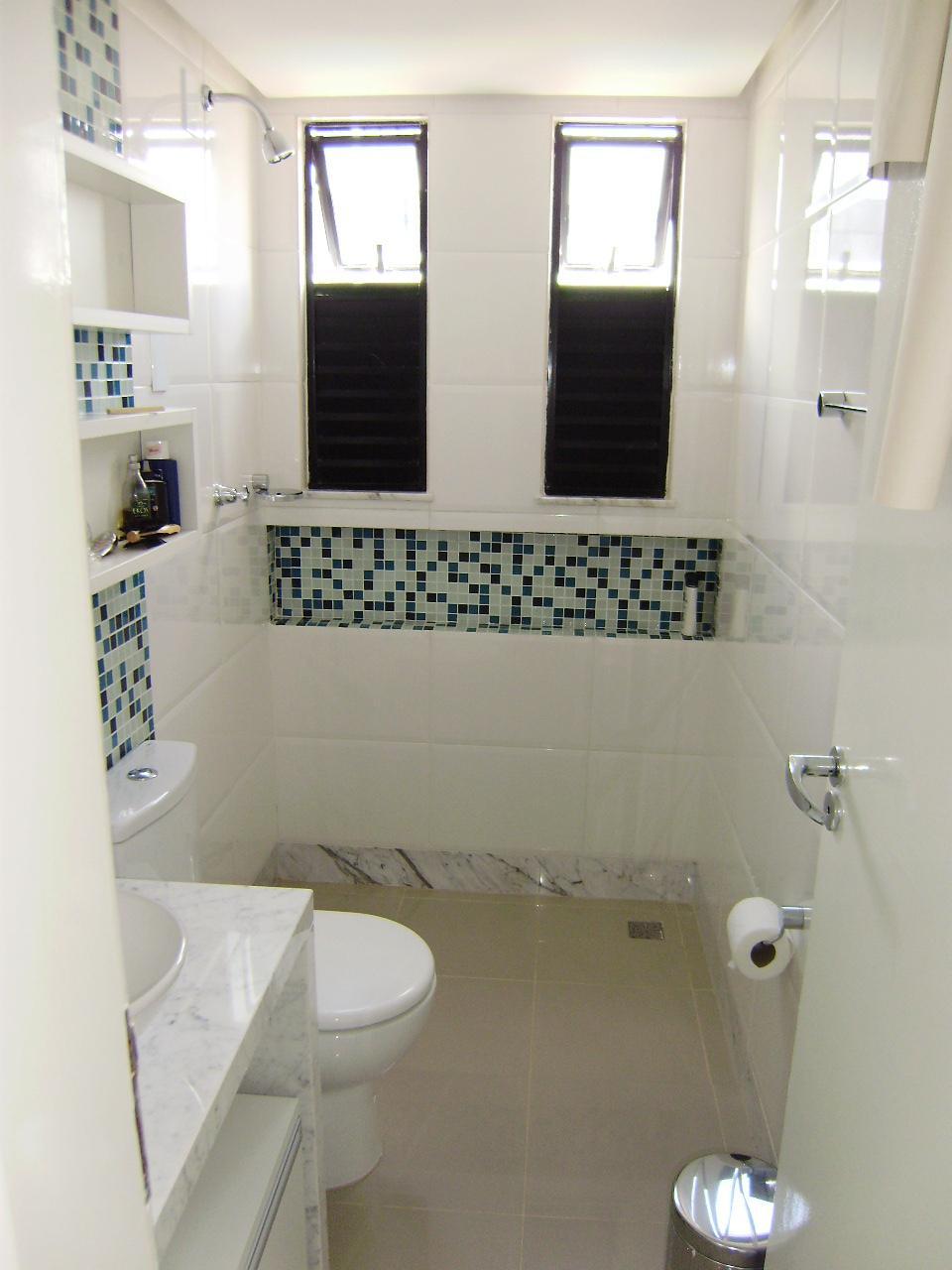 decoracao banheiro pastilhas: sim pra você colocar um nicho no seu banheiro em 1 final de semana