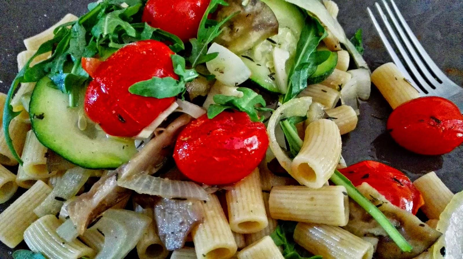 Verdelicioso macarrones con verduras al horno y r cula receta de roc o - Macarrones con verduras al horno ...