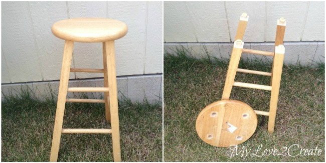 Before of broken stool