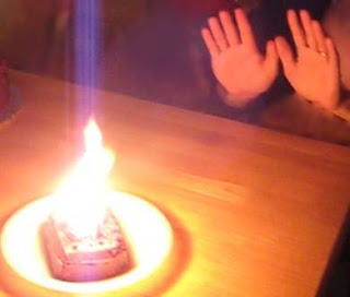 Little Chocolate Cake - Big Flame!