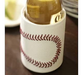 Baseball Leather Bottle Cooler (Monogramming available)