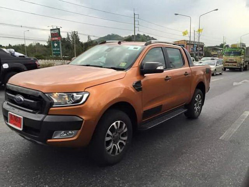 2015 Ford Ranger Wildtrack Facelift Reveals Itself on the Road ...