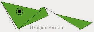 Bước 4: Vẽ mắt để hoàn thành cách xếp con Cào cào bằng giấy origami đơn giản.