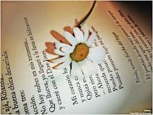 Mi diario siempre tiene entre sus páginas una flor viva ...