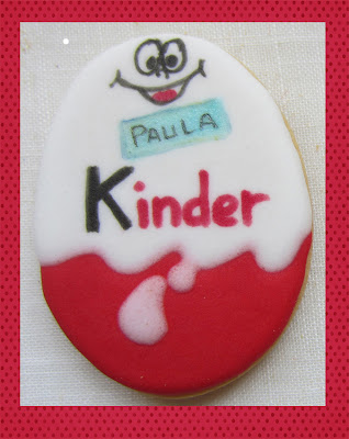 galleta decorada huevo kinder
