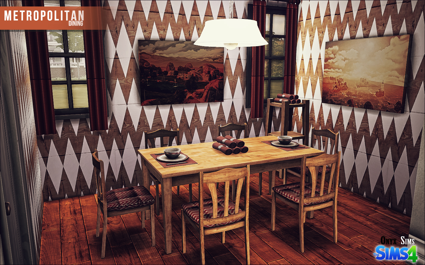 My Sims 4 Blog Metropolitan Dining Set By KiaraRawks
