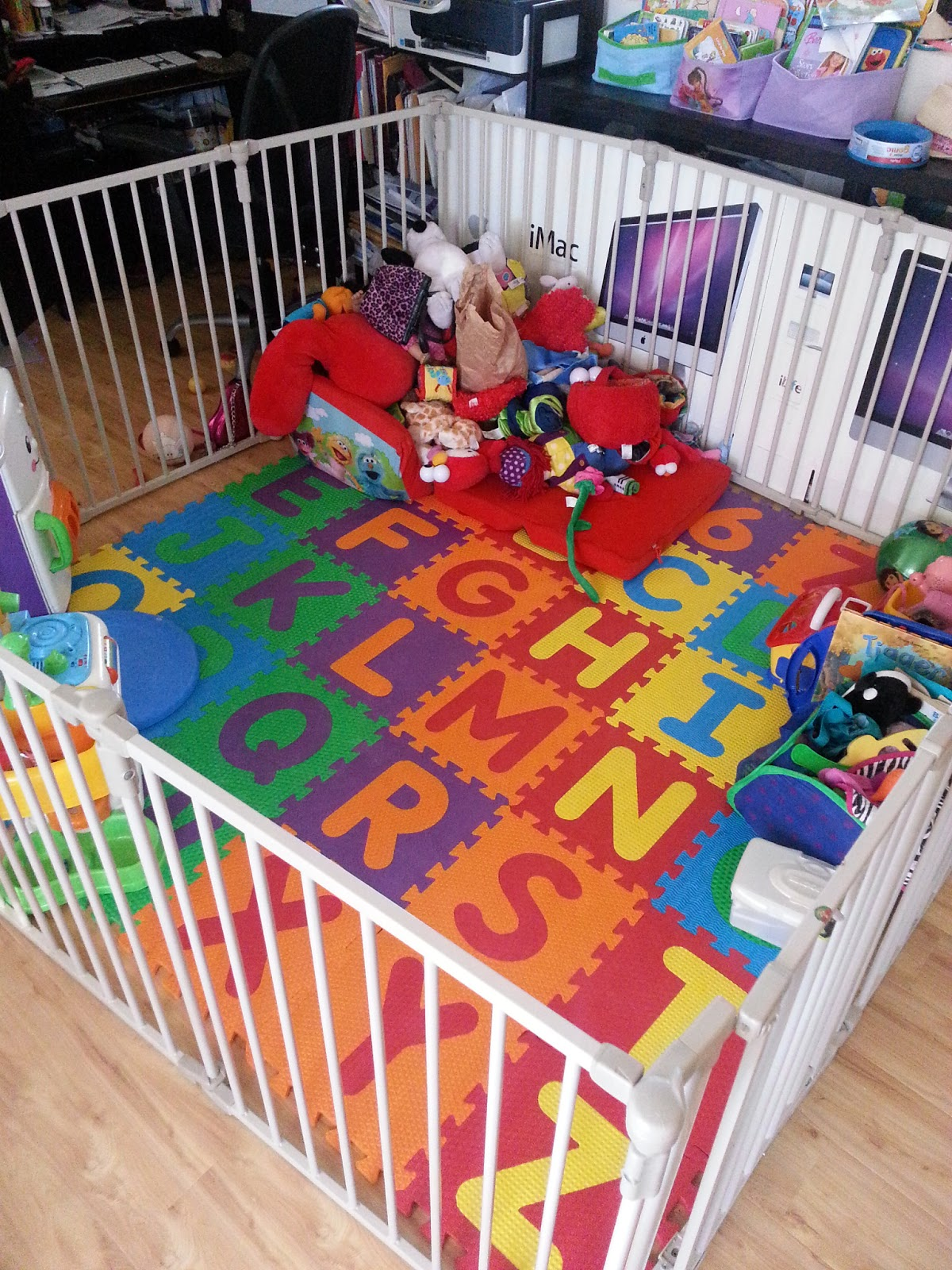 The play area containing the kiddie tornado mommyneurotic for Cheap house stuff