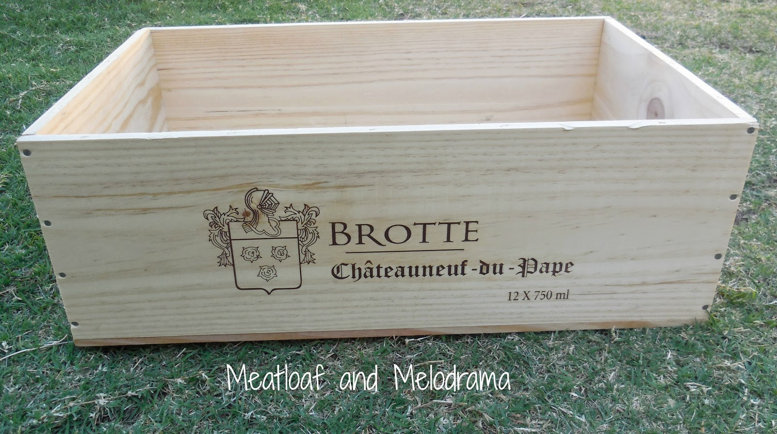 unpainted wine crate