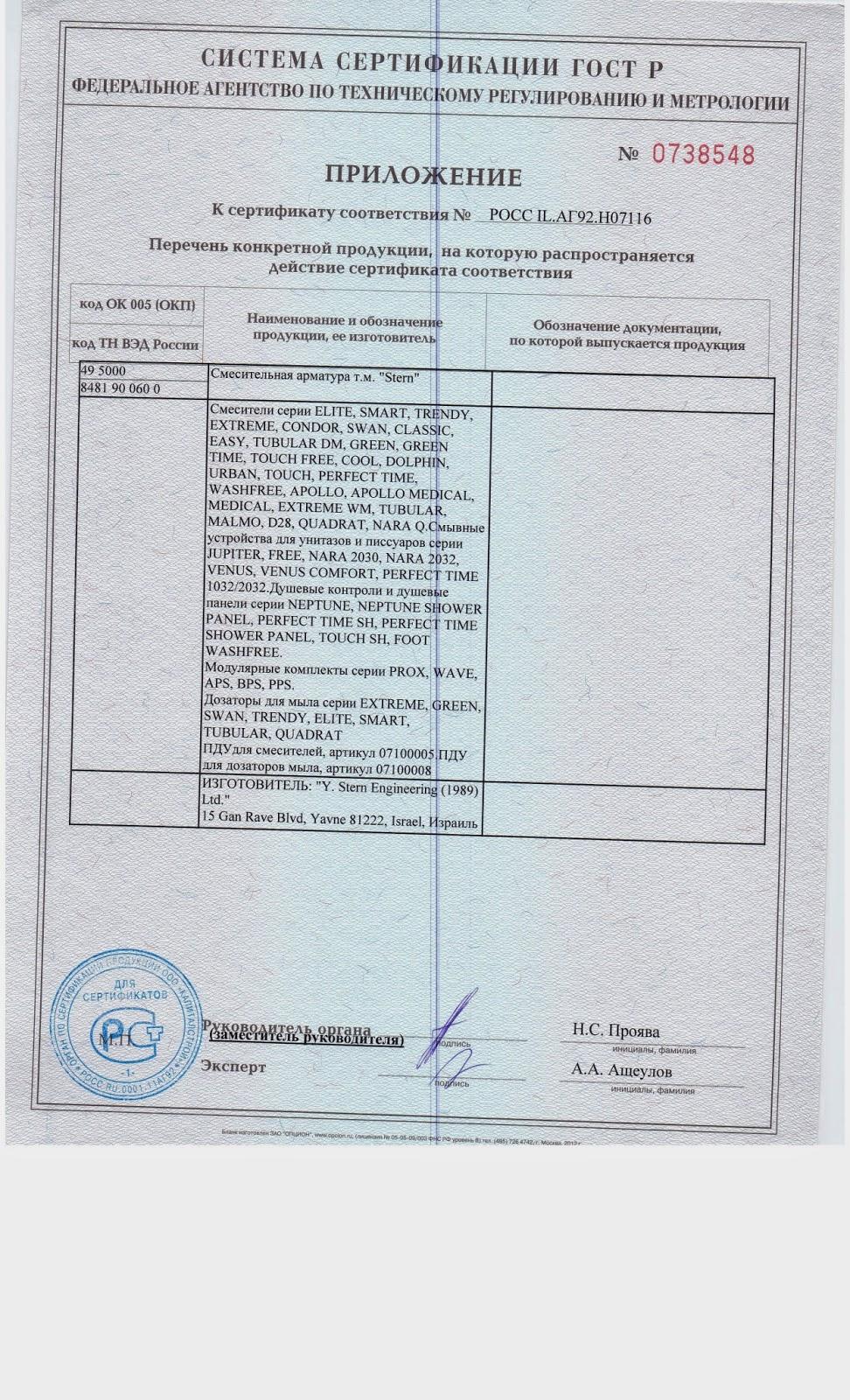 Сертификаты Stern