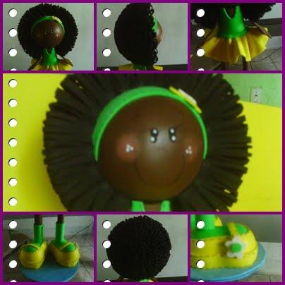 Fofucha Verde e Amarela
