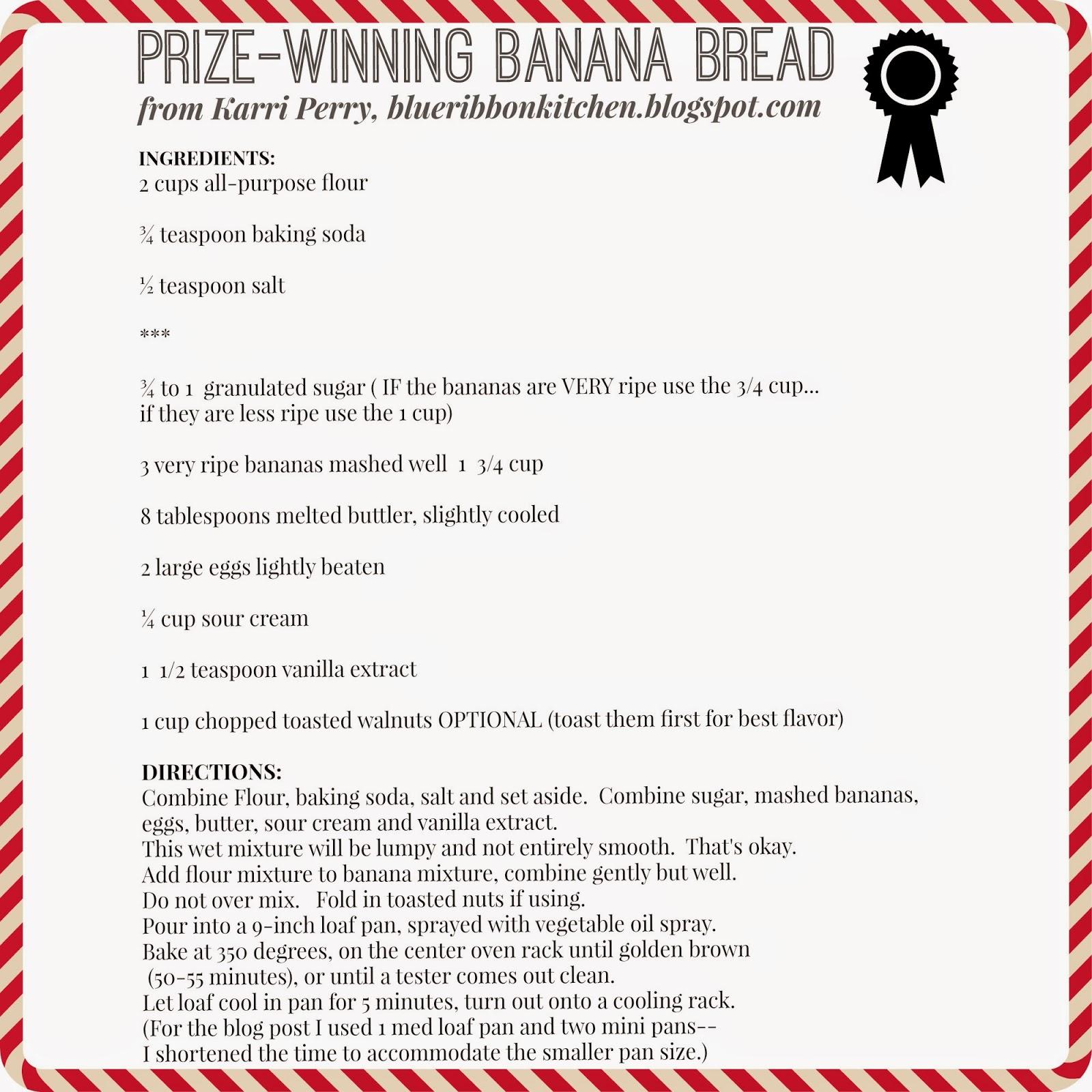 Blue Ribbon Kitchen: Prize-Winning Banana Bread
