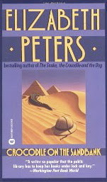 Book cover of Crocodile on the Sandbank by Elizabeth Peters
